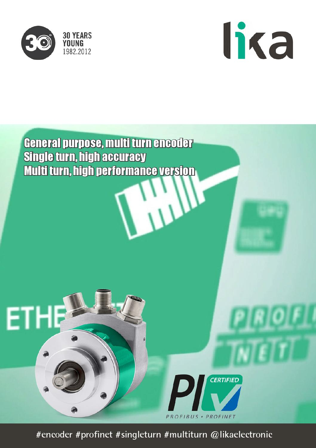 Lika Electronic Absolute Encoders with Profinet Interface