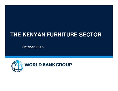 THE KENYAN FURNITURE SECTOR: October 2015 by Kenya