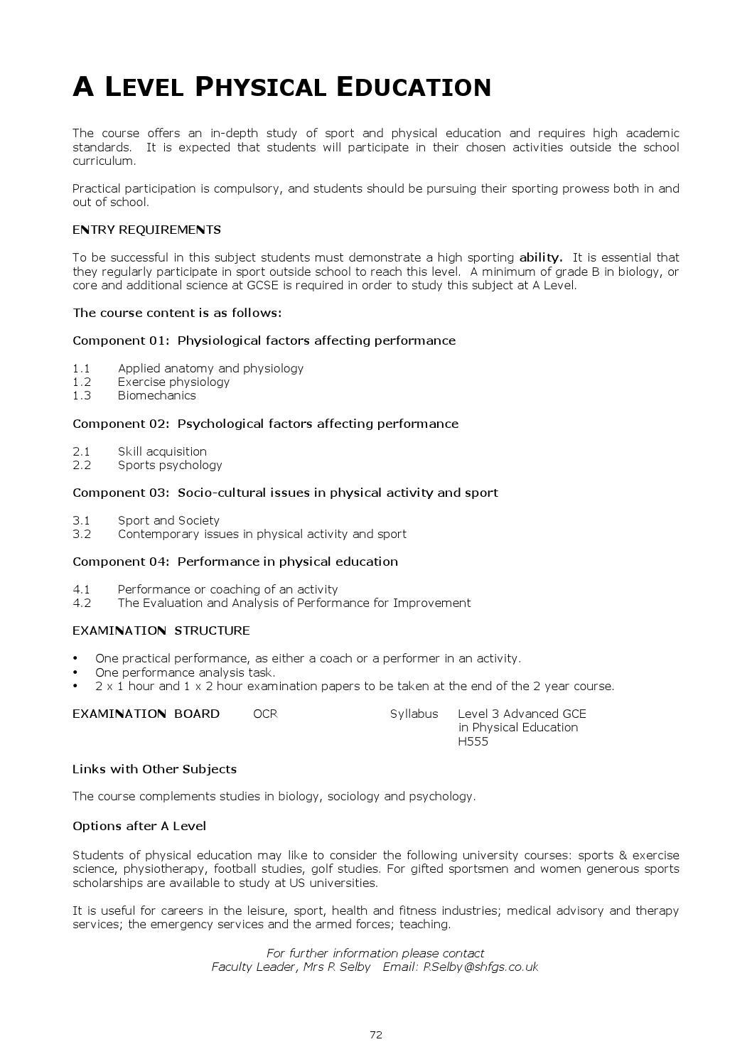 Sir Henry Floyd Grammar School Sixth Form Prospectus by FSE