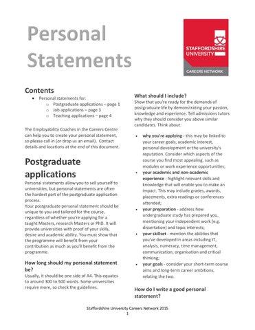 personal statement teaching