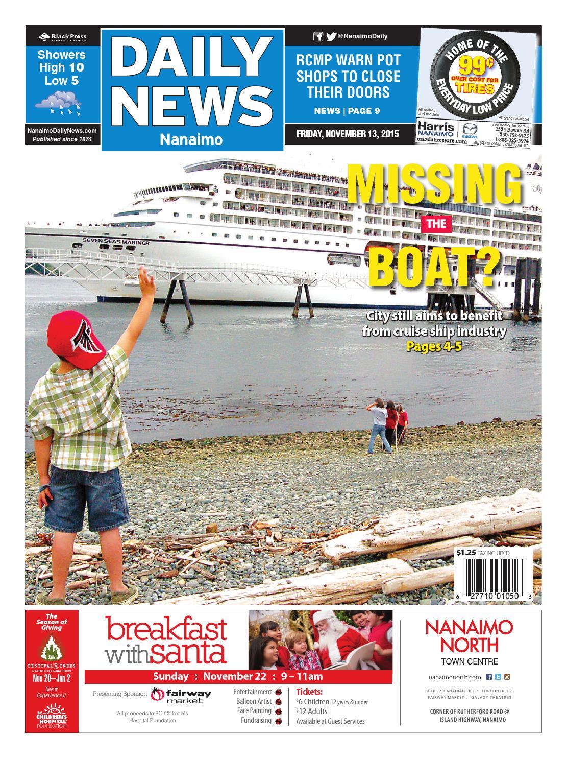 Nanaimo Daily News, November 13, 2015 by Black Press Media