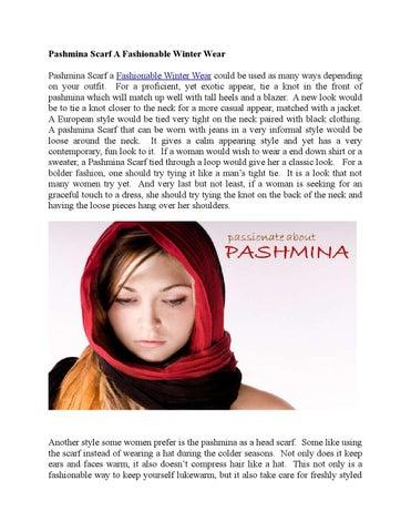 Pashmina Scarf A Fashionable Winter Wear By Khyberbazaar Issuu