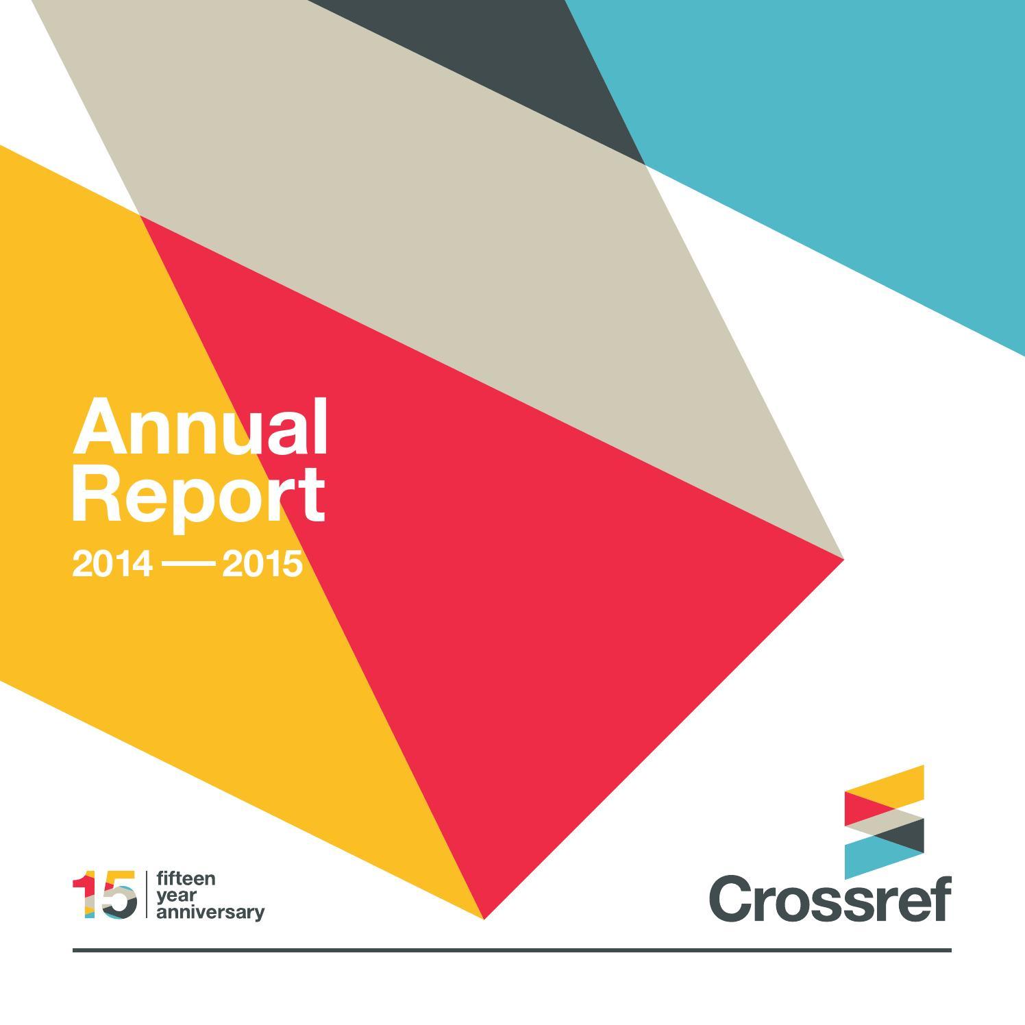 Crossref Annual Report 2014-20...