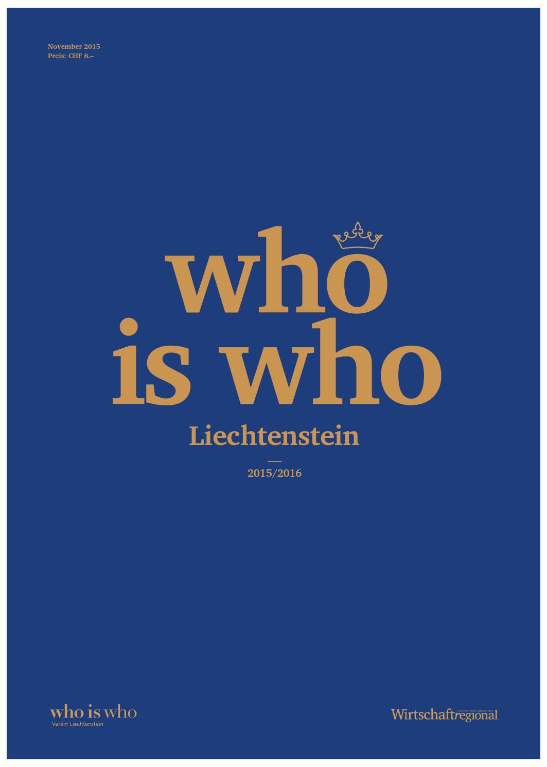 """Who is who Liechtenstein 2015/2016"""" by Sitewalk - issuu"""