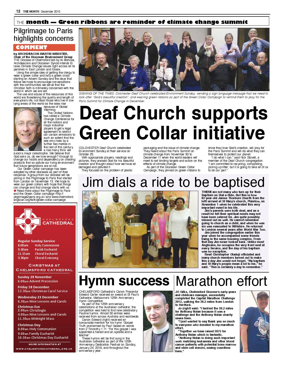 The Month December 2015 by Diocese of Chelmsford - issuu