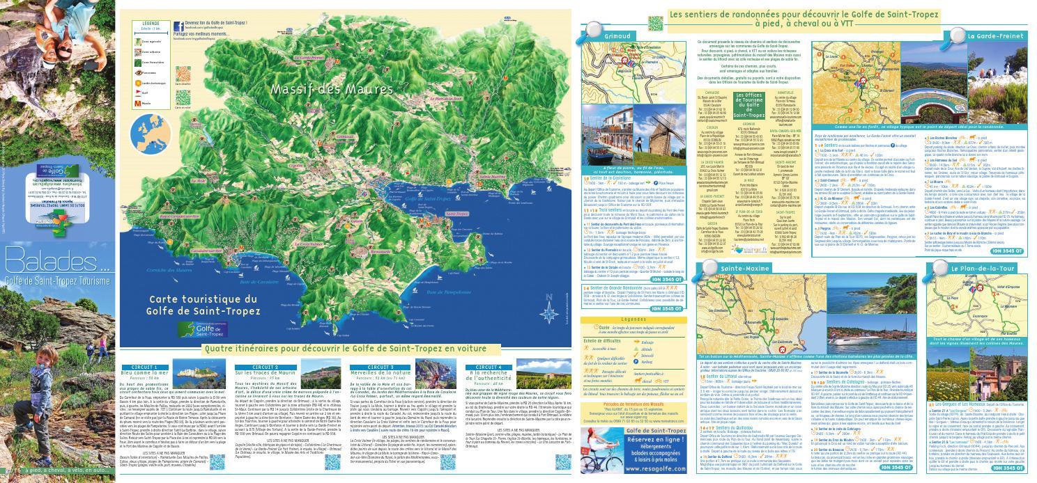 Carte balades randonn es golfe de saint tropez by office de tourisme de sainte maxime issuu - Office du tourisme saint maxime ...