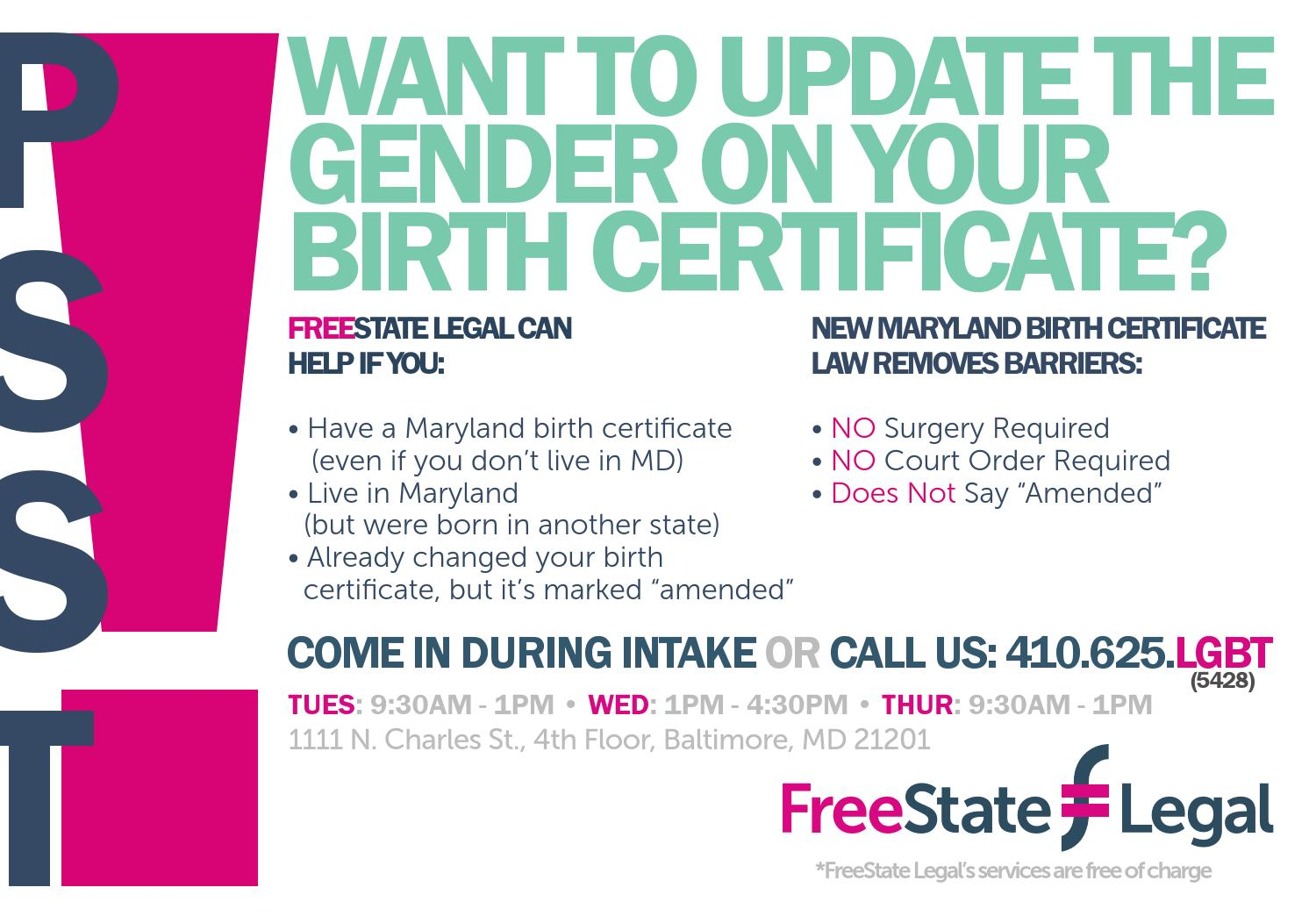 Birth Certificate Initiative With Pnc By Freestate Legal Issuu