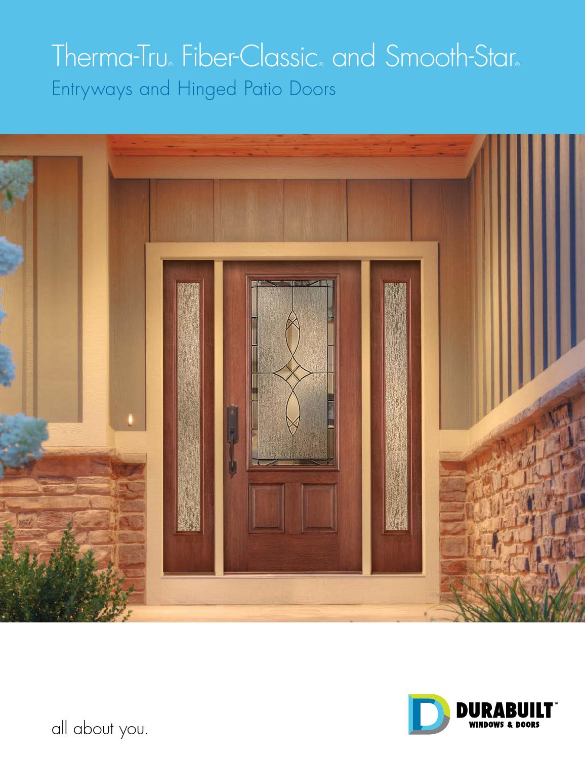 Therma Tru Fiber Classic And Smooth Star Entryways By DurabuiltWindows    Issuu