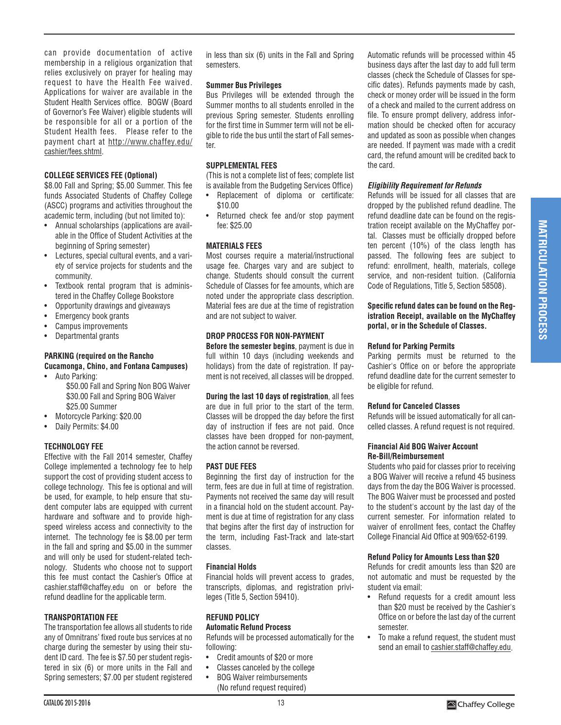 Chaffey College Catalog 2015 2016 by Chaffey College - issuu
