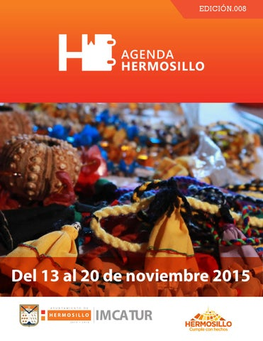 "Cover of ""Agenda hermosillo del 13 al 20 de noviembre"""