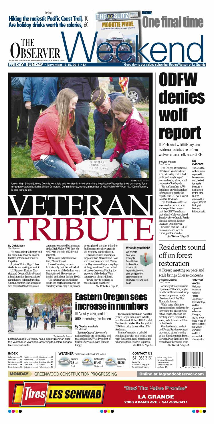 The Observer paper 11-13-15 by NorthEast Oregon News - issuu