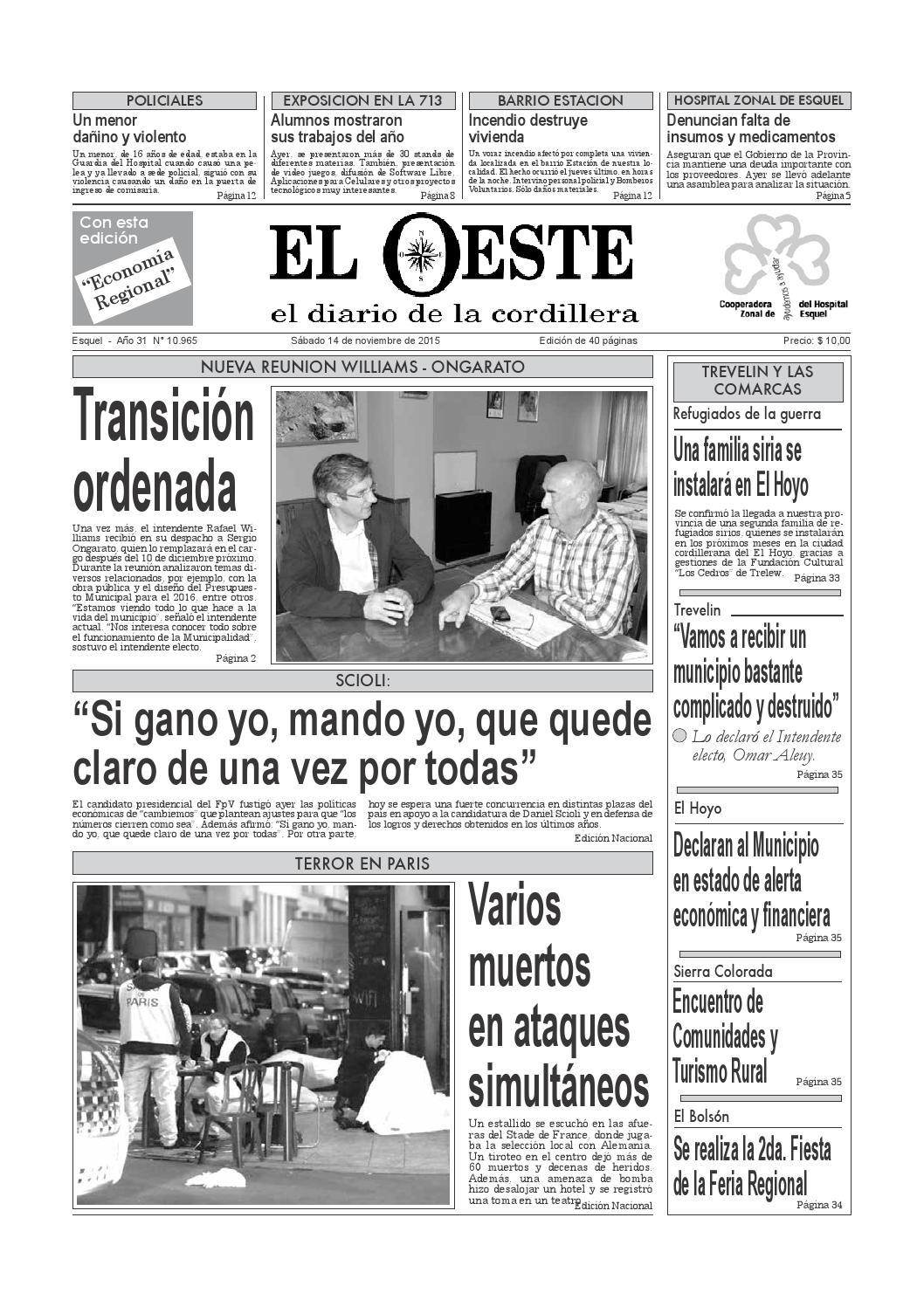 Oeste14 11 2015 by Roberto Pena - issuu