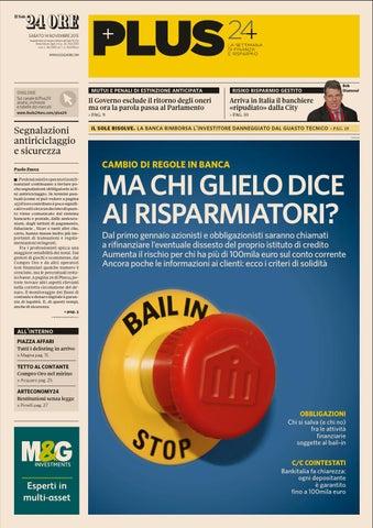 4b4c7cdcbe SABATO 14 NOVEMBRE 2015 Supplemento al numero odierno del Sole 24 Ore Poste  Italiane Sped. in A.p. -D.l. 353/2003 conv. L. 46/2004, art. 1, c.1, Dcb  Milano
