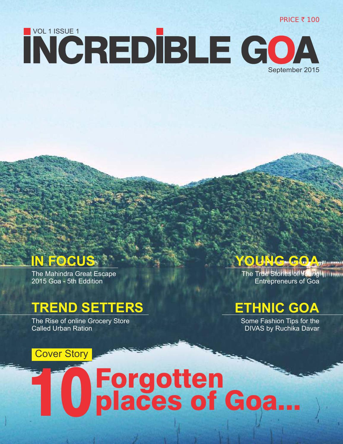 incredible goa vol 1 issue 1 september 2015 online vesrion by incredible goa issuu. Black Bedroom Furniture Sets. Home Design Ideas