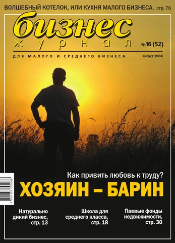Бизнес-журнал №16 (52) за 2004 год by Business Magazine - issuu 98769c7cd0b