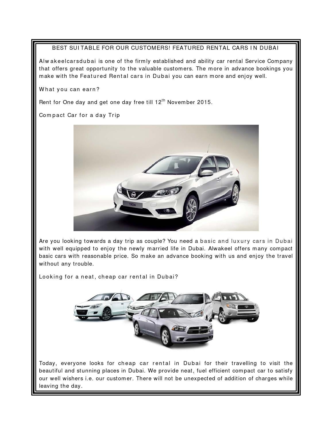 With The Excitement Travel Cheap Car Rental In Dubai By Alwakeelcarsdubai Issuu