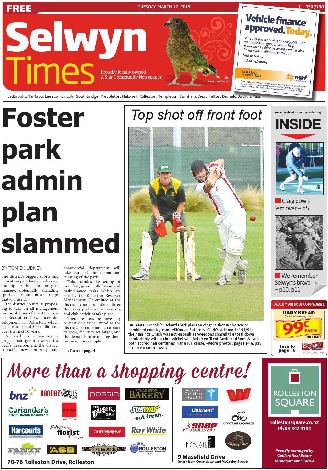 ab09b0fdb9a1c Selwyn Times 17-03-15 by Local Newspapers - issuu