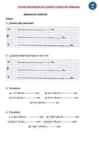 Ejercicios Matemáticas 4º de Primaria by Jose Perez - issuu