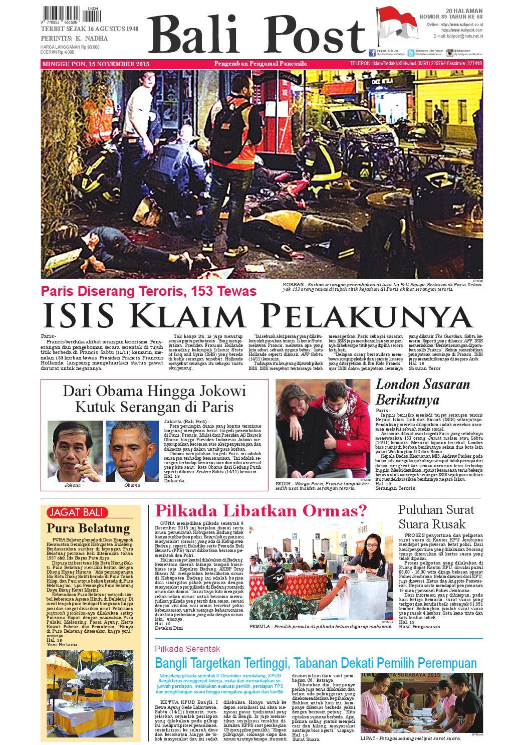 Edisi 15 november 2015 balipost com by e paper kmb issuu