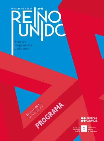 Uk guest of honour at guadalajara book fair 2015 programme by page 1 malvernweather Gallery