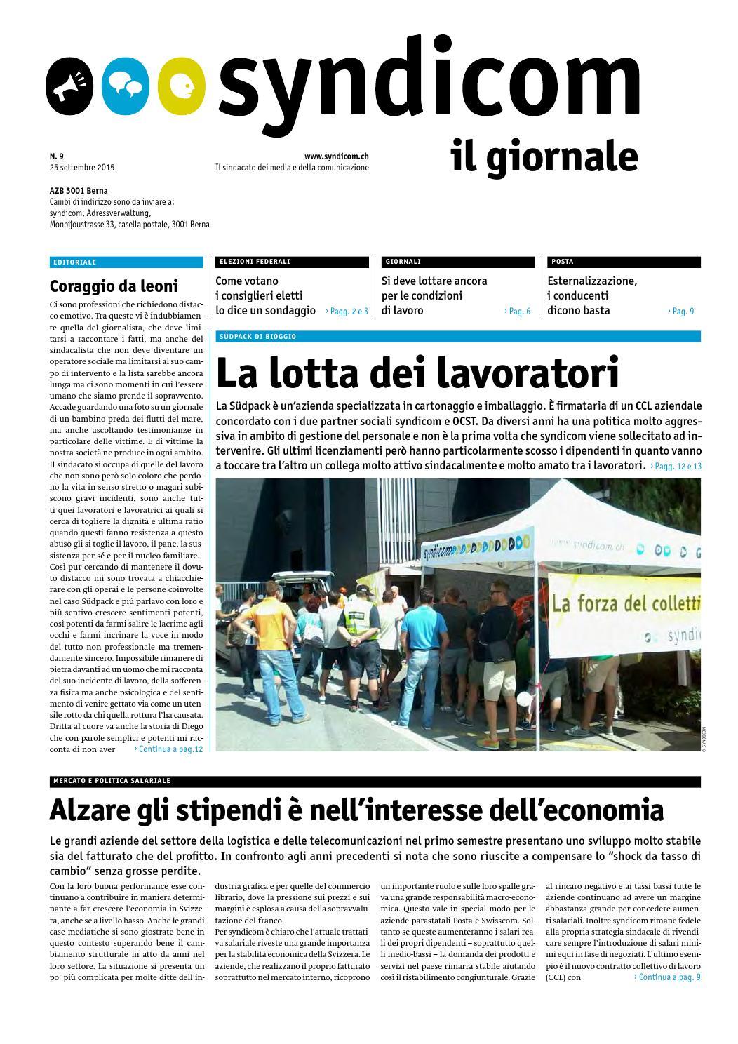 Syndicom Il Giornale By Syndicom Issuu