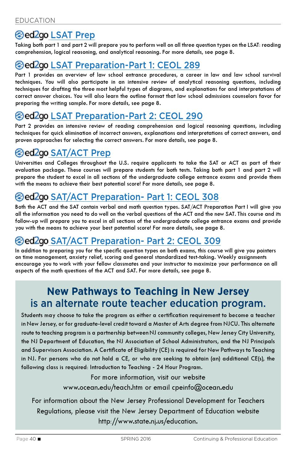 Ocean County College Continuing Education: Spring 2016 by Ocean ...
