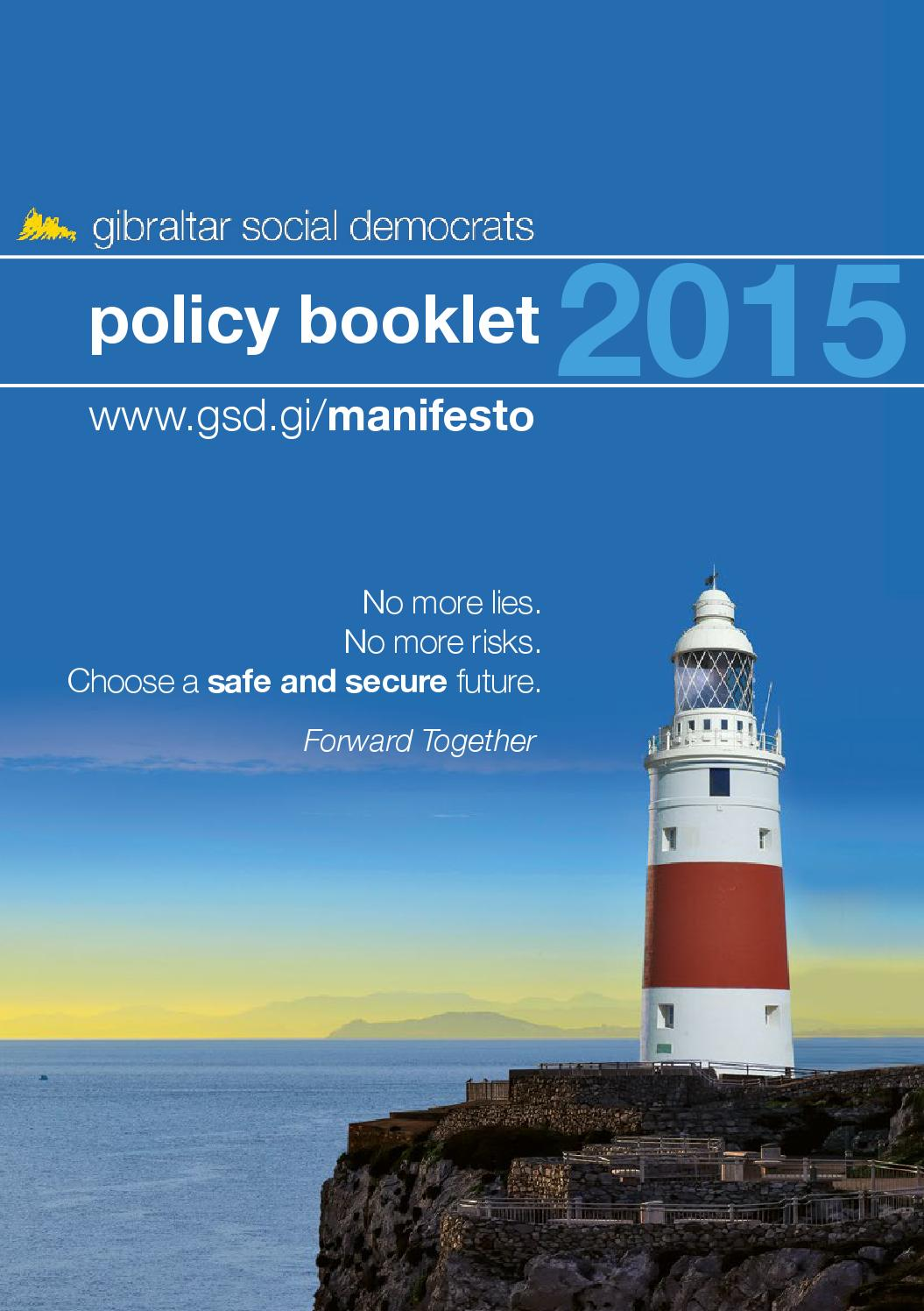 GSD Policy Booklet 2015 by GSD