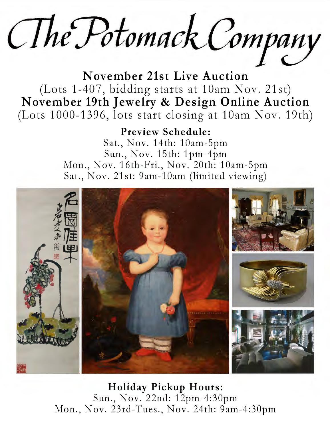 Potomack company nov 19th 21st auctions catalogues