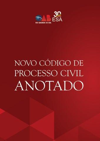 N945n Novo código de processo civil anotado   OAB. – Porto Alegre   OAB RS c4d399a092bb5