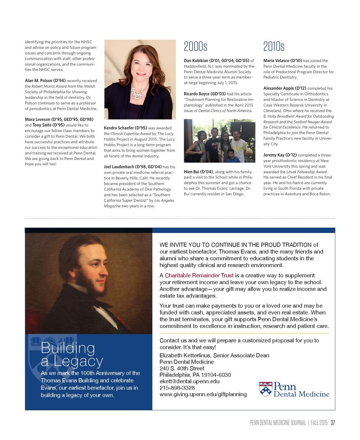 Penn Dental Medicine Journal Fall 2015 By Penn Dental Medicine Issuu