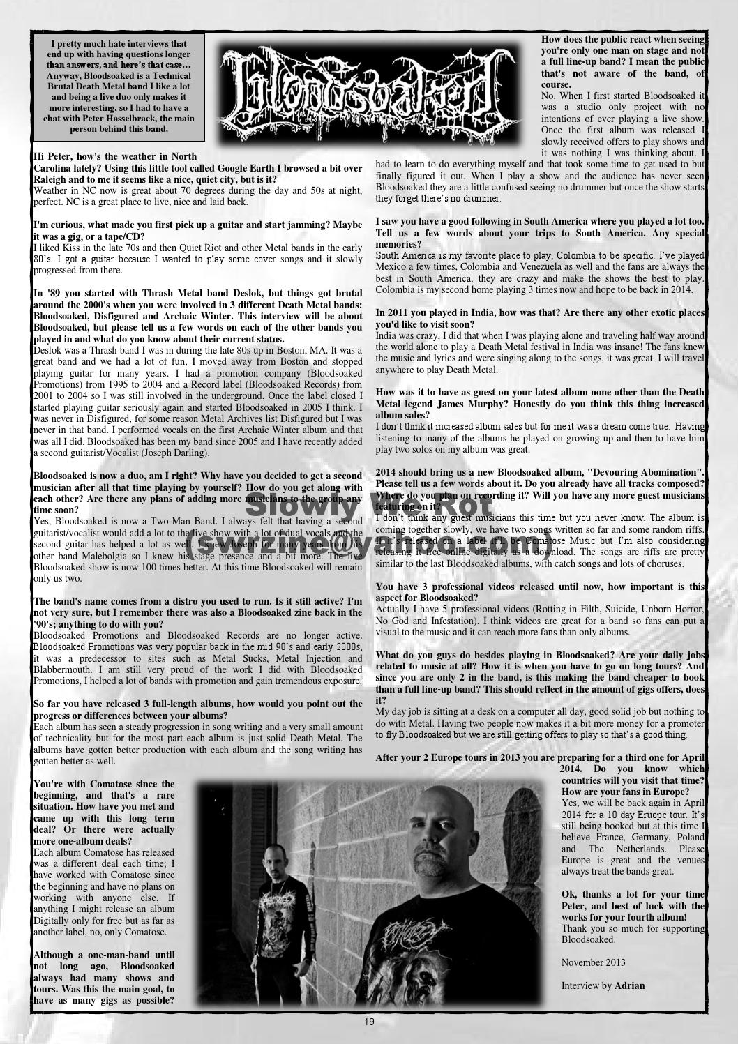 Slowly we rot #5 by Slowly We Rot - issuu
