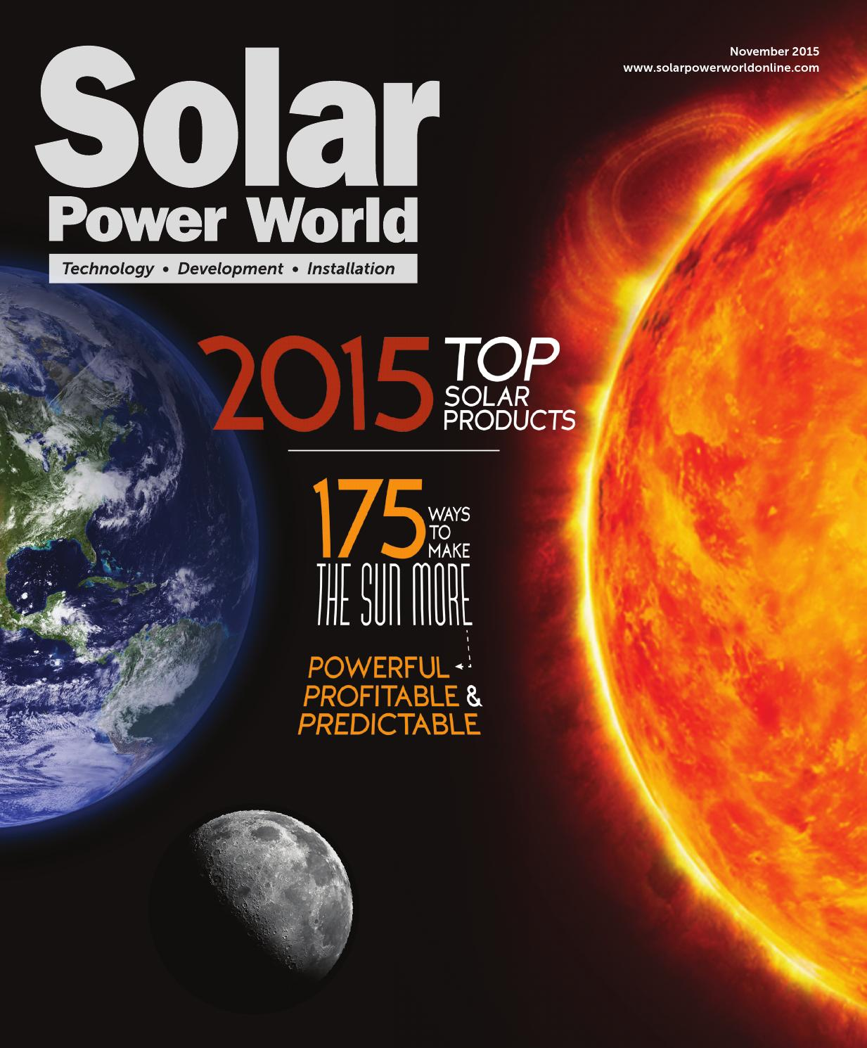 Solar Power World November 2015 Panel With Corrugated Thin Film Cells On Wiring Panels In
