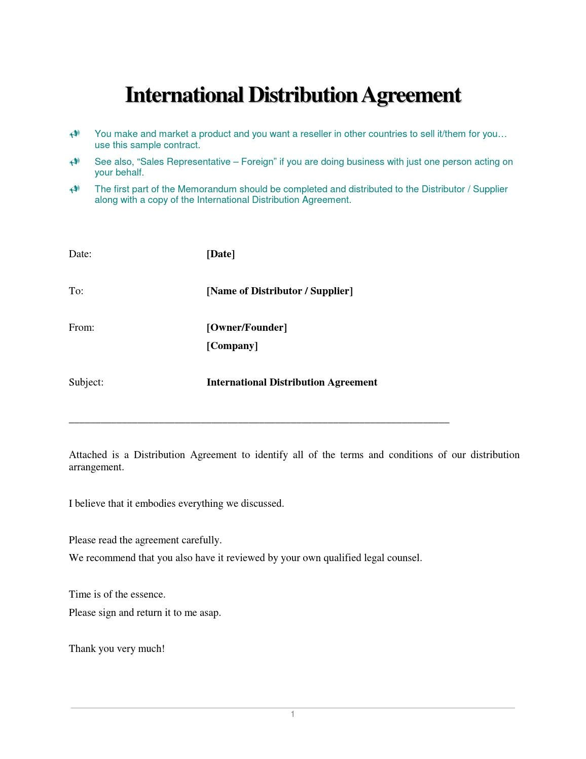 International Distribution Agreement By Joanna0701 Issuu