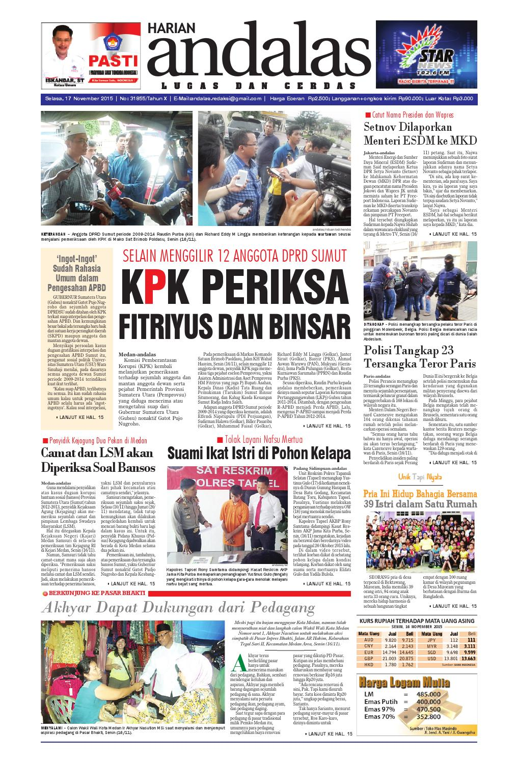 Epaper andalas edisi selasa 17 november 2015 by media andalas - issuu 968cdb2954