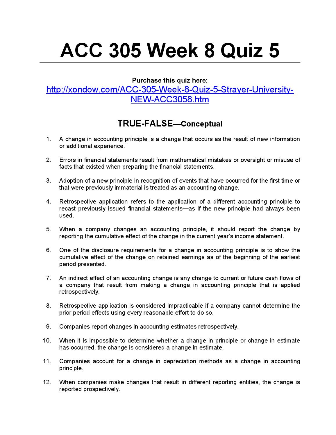 acc 563 week 6 assignment 2 strayer Acc 562 week 7 assignment 2 – strayer assignment 2: cardillo travel systems, inc due week 7 and worth 280 points review the cardillo travel systems case, located in chapter 6 of your textbook.