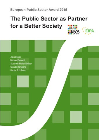 The Public Sector as Partner for a Better Society by Claude