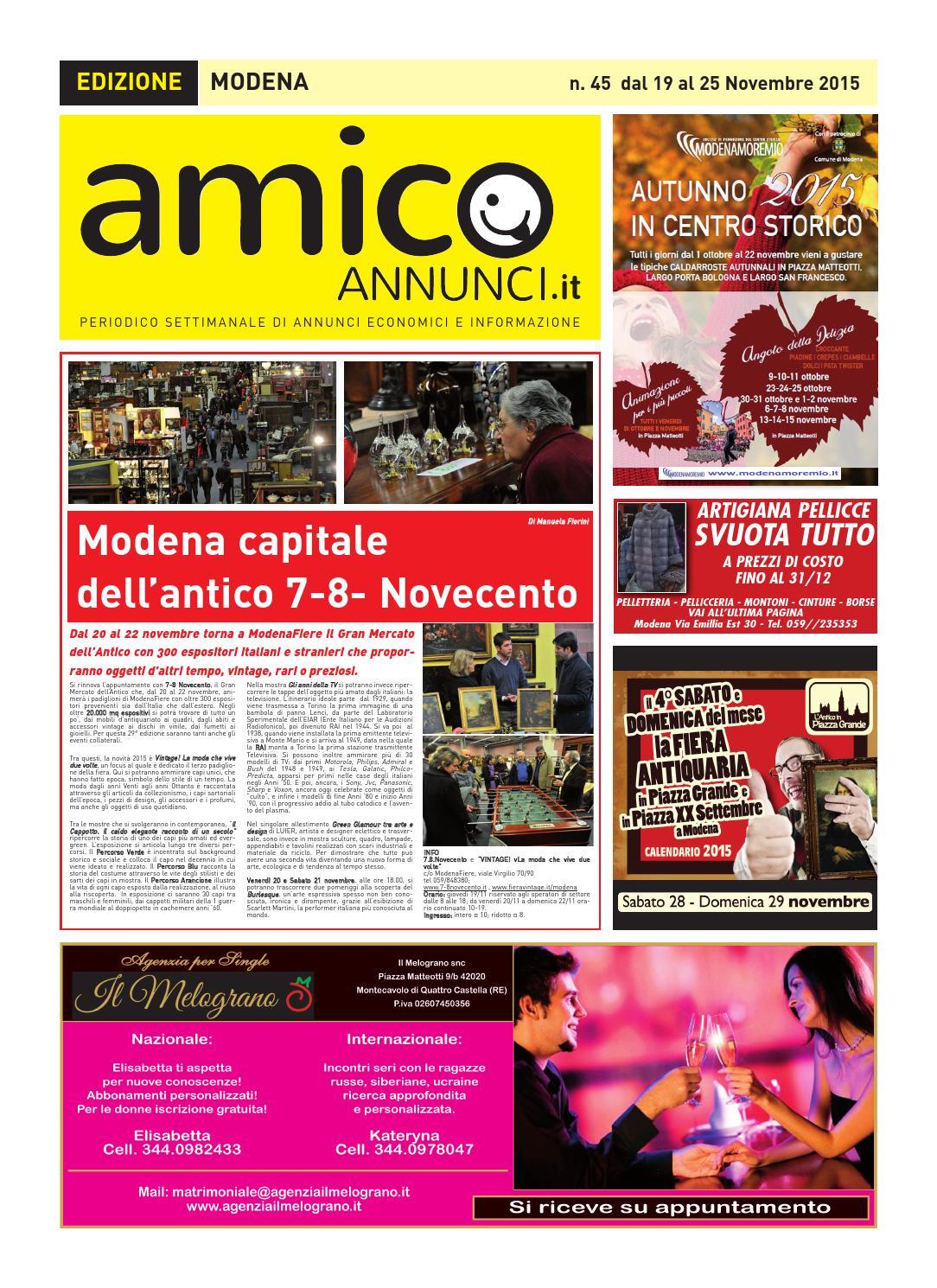 AmicoAnnunci Edizione Modena n°45 by amicoannunci - issuu 24faf579b1a
