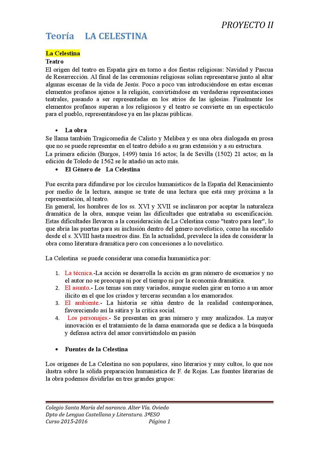 La Celestina Apuntes By Paula Losa Issuu