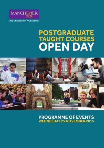 5e21ec8e2aeffc The University of Manchester - Postgraduate Taught Courses Open Day ...