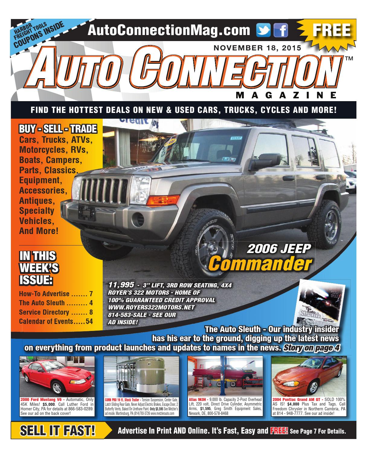 11 18 15 Auto Connection Magazine By Issuu 0 Dodge Dakota Custom Fit Vehicle Wiring Tow Ready