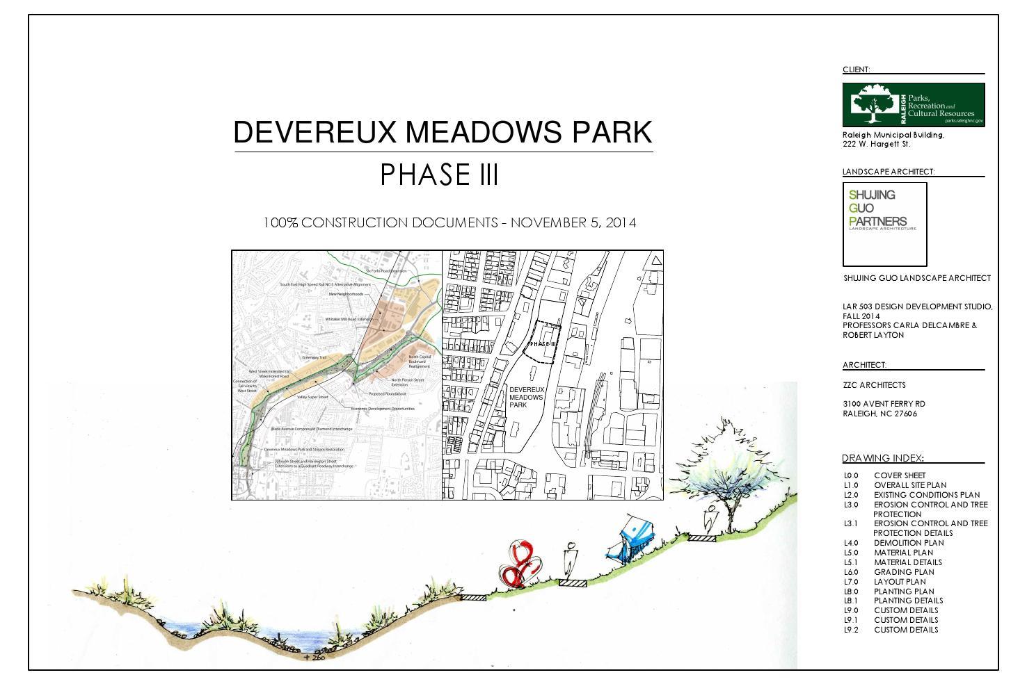 Devereux Meadows Park Construction Documents Shujing Guo By Shujing Guo Issuu