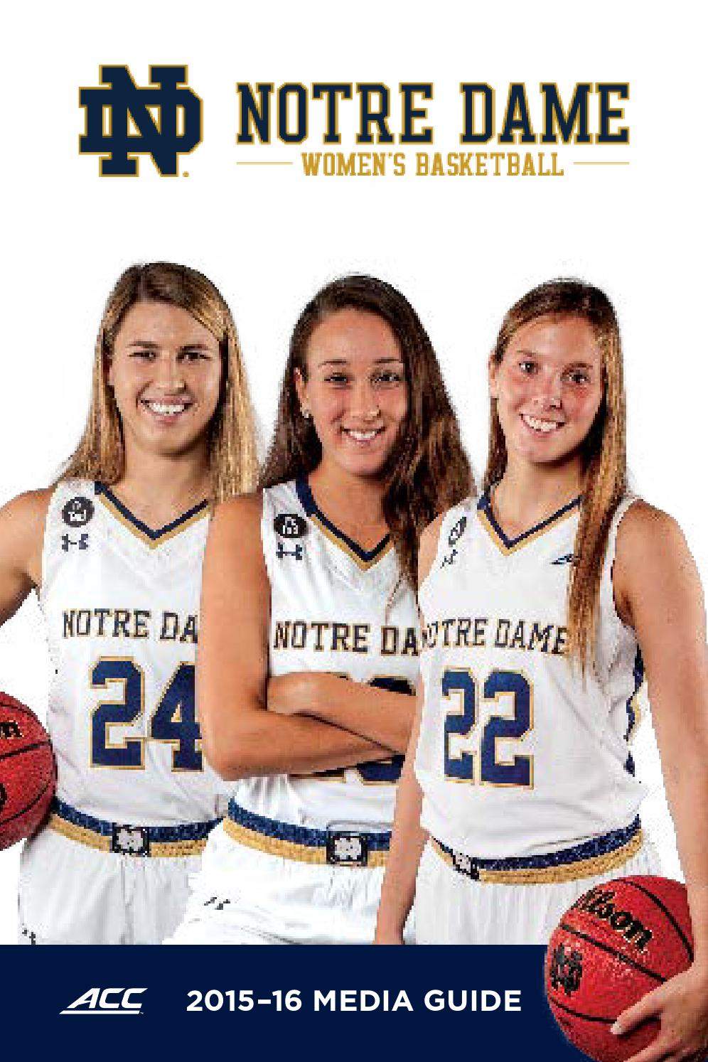 2015 16 Notre Dame Women S Basketball Media Guide By Chris Masters