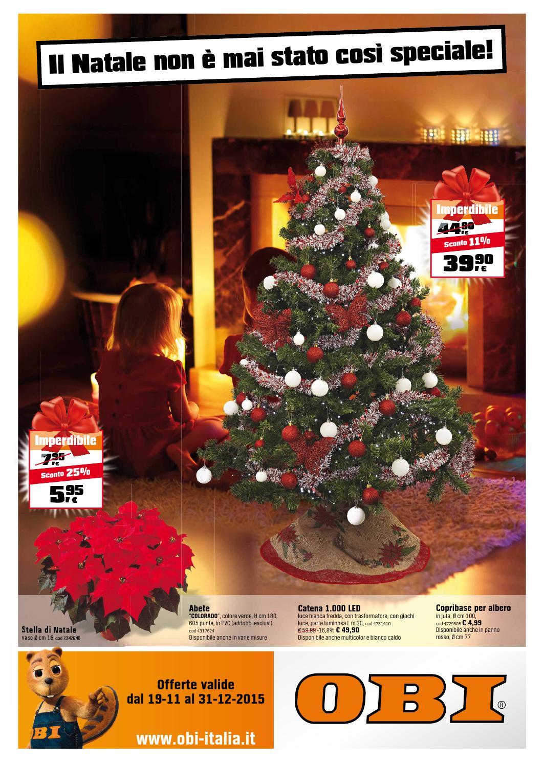 Albero Di Natale Bianco 90 Cm.Obi Volantino 19novembre 31dicembre2015 By Catalogopromozioni Com