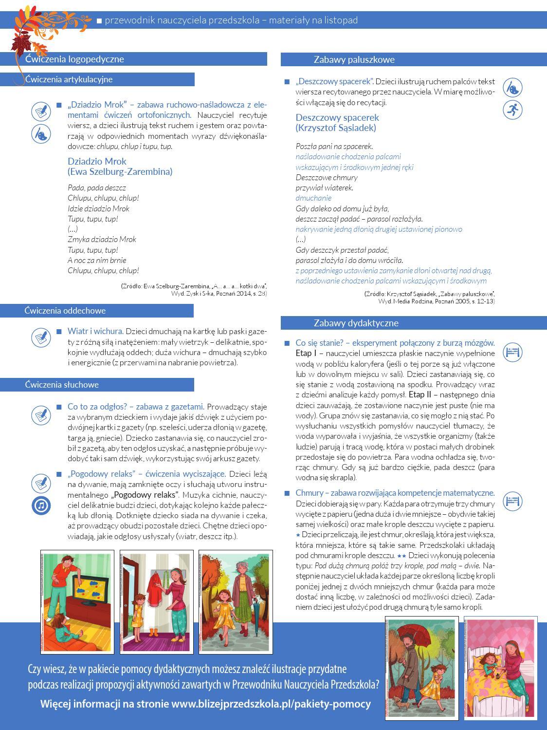Przykładowe Scenariusze Zajęć I Artykuły By Bliżej