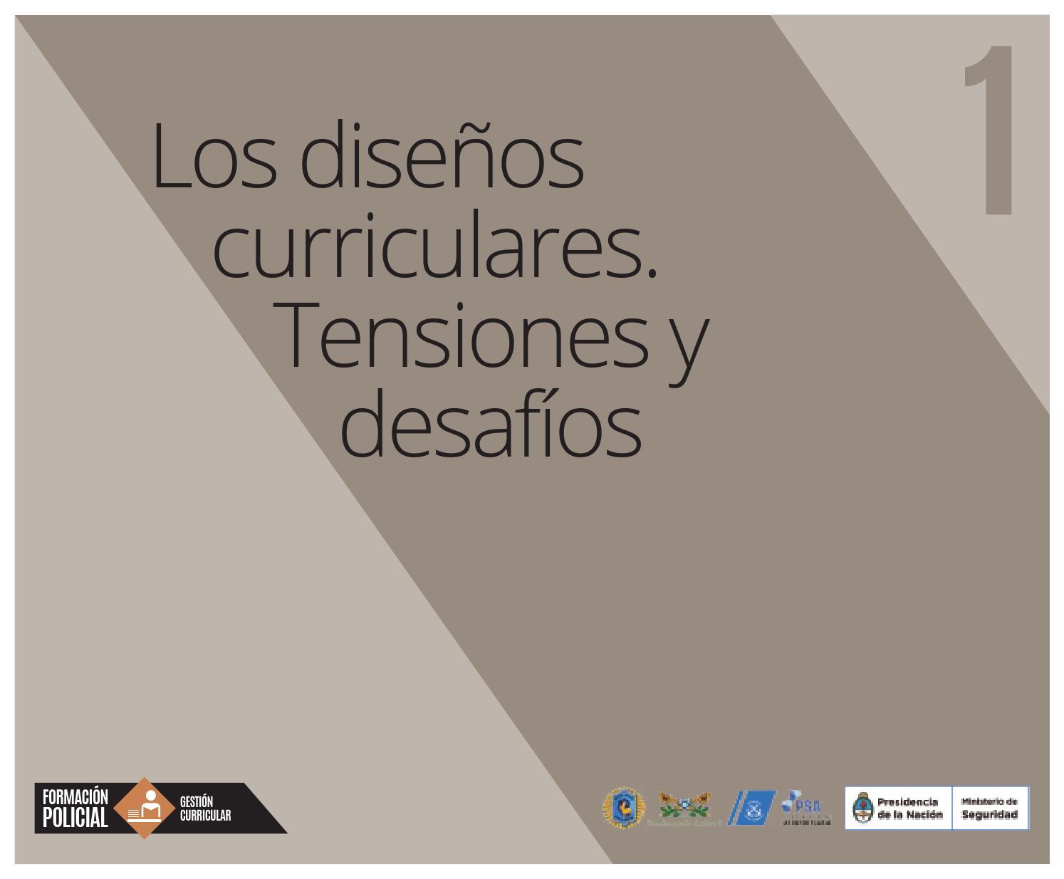 1 los diseños curriculares tensiones y desafíos by Ministerio de ...