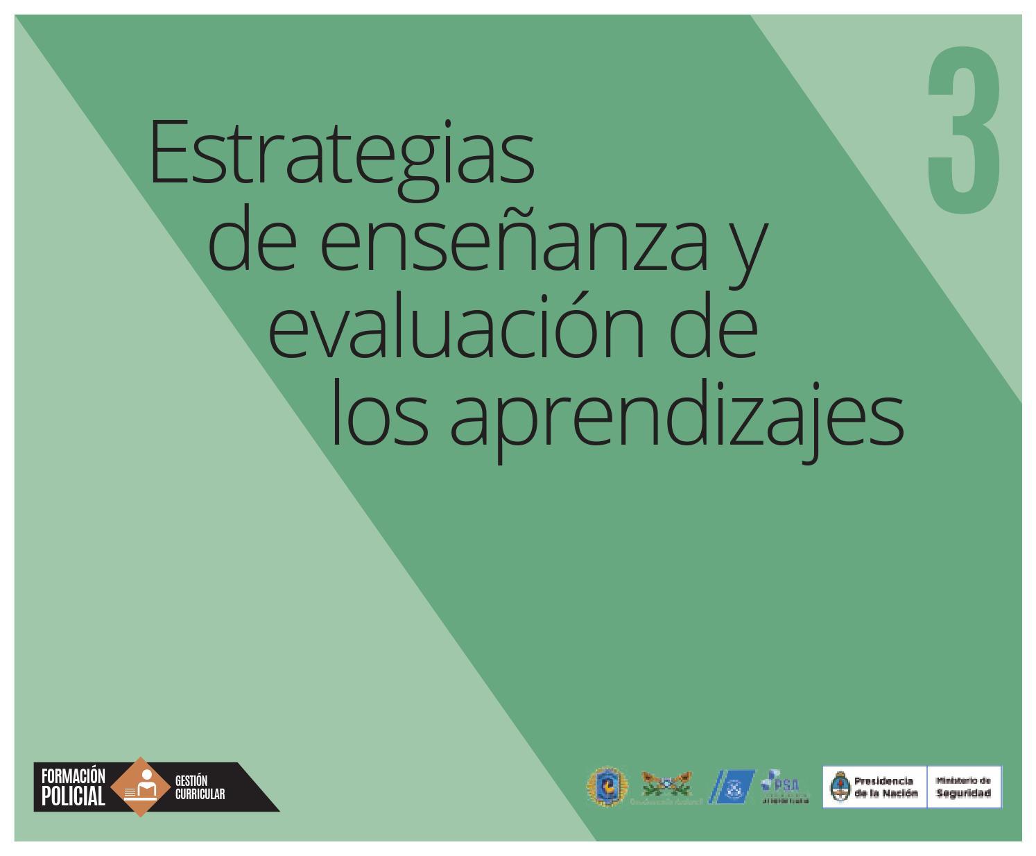 3 Estrategias De Enseñanza Y Evaluación De Los Aprendizajes