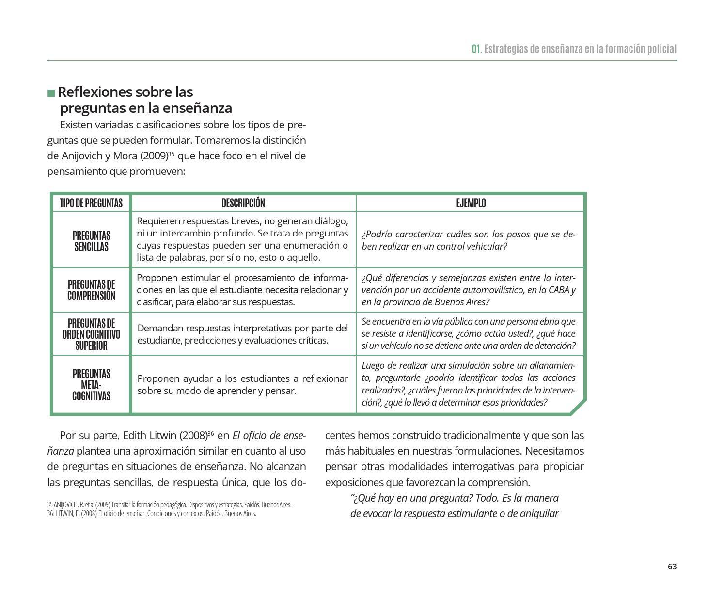 3 Estrategias De Ensenanza Y Evaluacion De Los Aprendizajes By Ministerio De Seguridad De La Republica Argentina Issuu