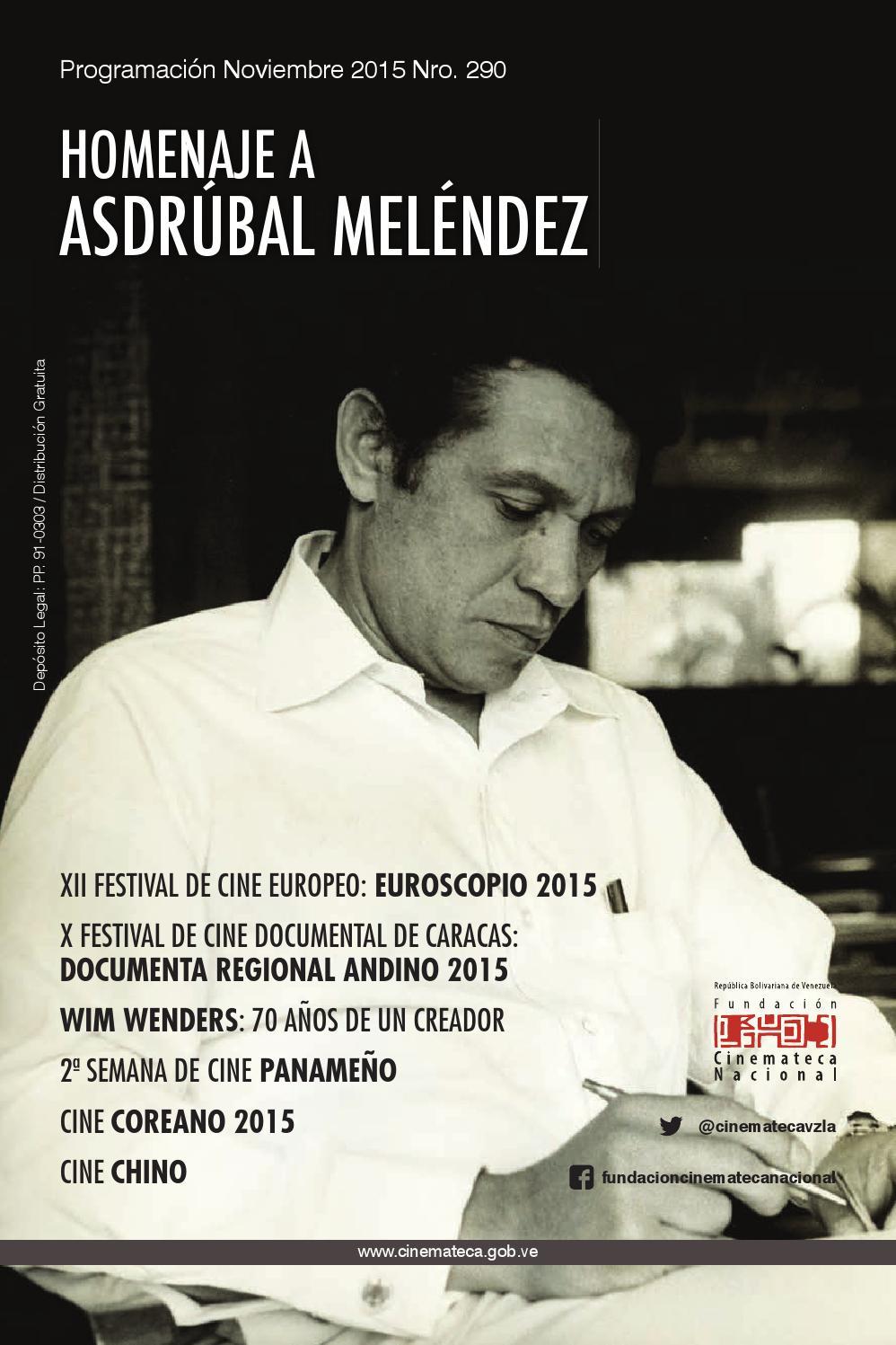 Revista Programación Cinemateca Nacional Noviembre 2015 by Jessica ...