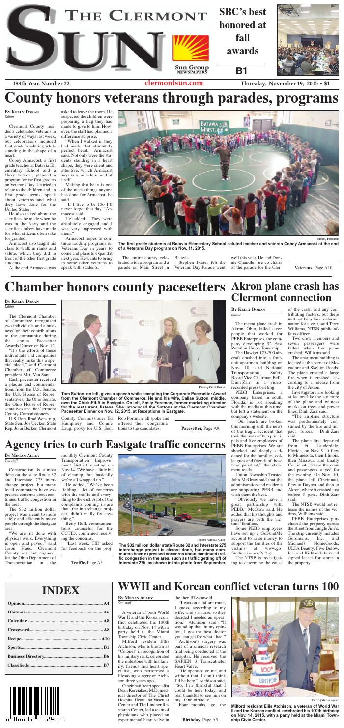 Clermont sun 11 19 15 by Clermont Sun Publishing Company - issuu