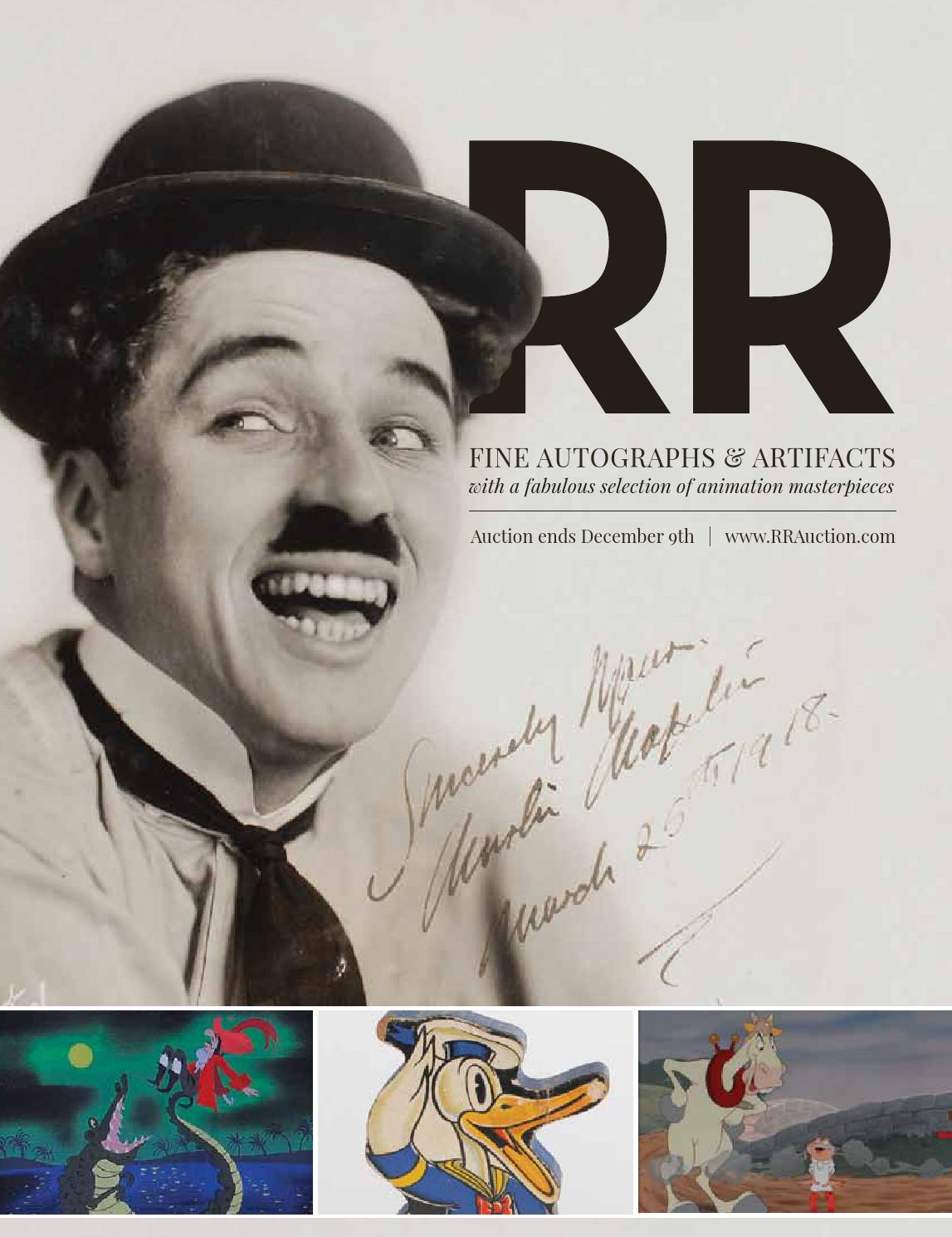 17d478f693abb RR Auction  December 2015 Fine Autographs   Artifacts by RR Auction - issuu